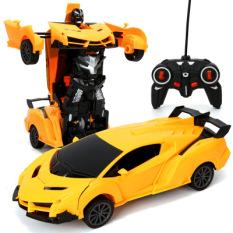 Đồ chơi xe oto điều khiển từ xa biến hình siêu nhân dành cho bé