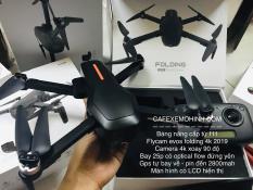 Flycam Evos Folding camera 4k xoay có GPS bay 25p xa 800m tự bay về , động cơ brushless cực mạnh có optical flow đứng yên trong nhà