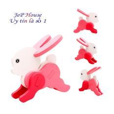 Bộ ghép hình gỗ 3D hình con thỏ cho bé