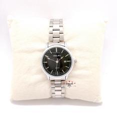 Đồng hồ nữ HALEI dây kim loại có lịch thời thượng ( HL565 dây trắng mặt đen ) – TẶNG 1 vòng tỳ hưu phong thuỷ