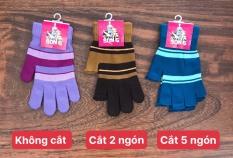 Combo 5 và 10 đôi găng len nữ , không cắt ngón , cắt 2 ngón , cắt 5 ngón , thương hiệu CTY MỸ BẢO , ảnh thật , bảo đảm giao đúng hàng 6696