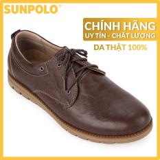 Giày Nam Da Bò SUNPOLO CS4060 (Nâu đỏ)