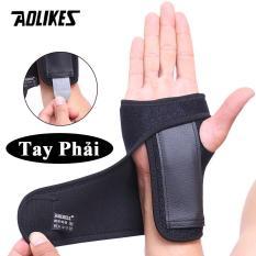 Nẹp cố định khớp cổ tay hỗ trợ khi bị chấn thương Sport wrist support AOLIKES A-1676