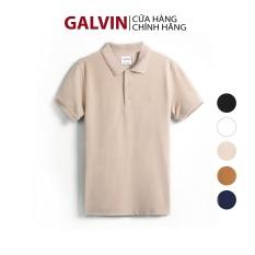 Galvin Store – Áo polo nam tay ngắn GALVIN chính hãng áo thun trơn có cổ bẻ phối dệt tăm cổ và bo, chất cá sấu cotton co giãn mềm dáng ôm phong cách trẻ trung PLGV12 – LEO VATINO