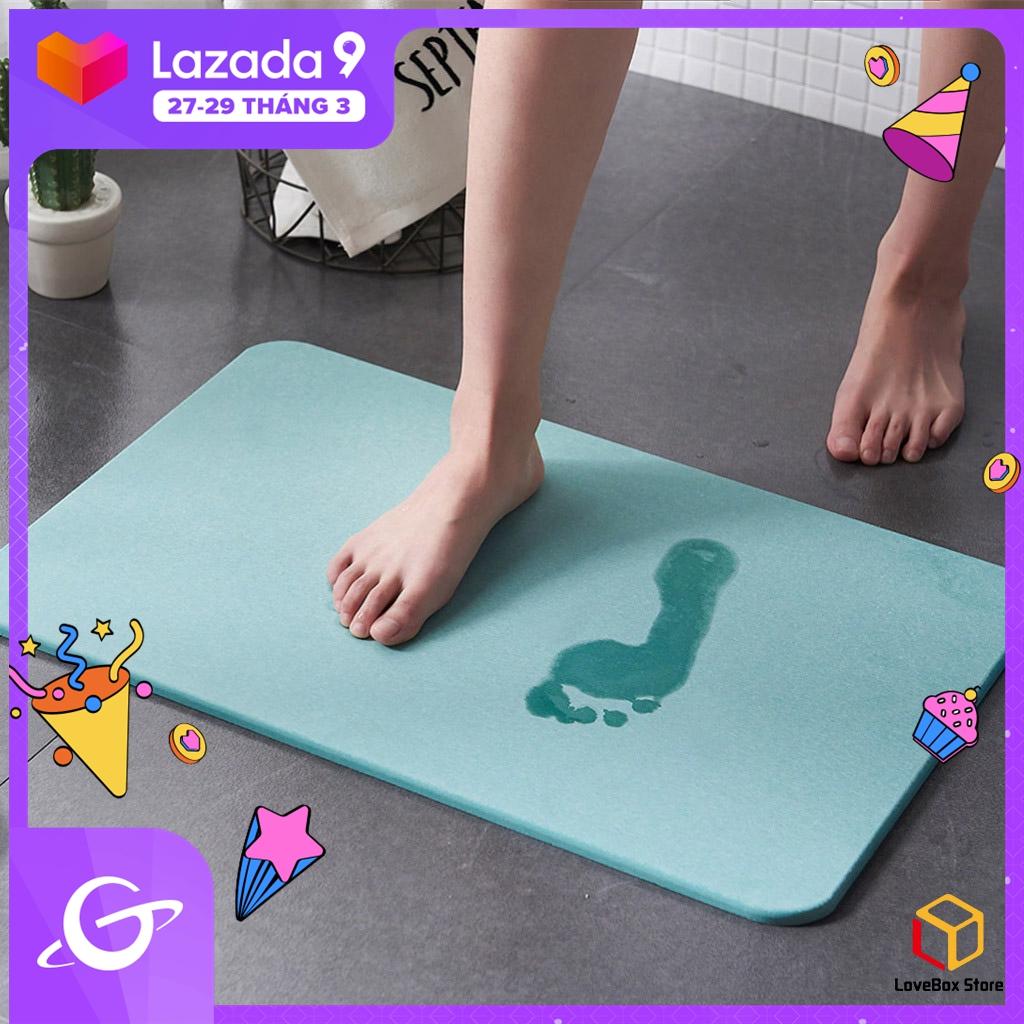 LoveBox Tấm thảm lót sàn nhà tắm chất liệu thấm hút cực nhanh chống trượt chân - INTL