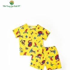 Bộ lanh quần đùi, áo cộc tay bé trai Việt Thắng B63.2102 – Mặc mát, thoải mái vận động