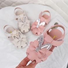 A709# Sandal tai thỏ đính đá cho bé gái – Thiết kế đơn giản – Phong cách Hàn Quốc – Hàng quảng châu 2020