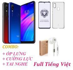 Xiaomi Redmi 7 Ram 4GB 64GB (Full Tiếng Việt) + Ốp lưng + Cường lực Full màn hình + Tai nghe – Hàng nhập khẩu