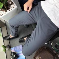 Quần âu nam Hàn Quốc, quần tây nam đen dáng ôm vải co giãn không nhăn