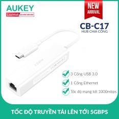 Hub Chia Cổng Type C Sang USB Aukey CB-C17 3 Cổng USB 3.0 Và 1 Cổng Gigabit Ethernet – Nhà Phân Phối Chính Thức