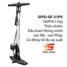 Bơm xe đạp, xe gắn máy 160PSI/11KG GIYO GF-31 thân nhôm