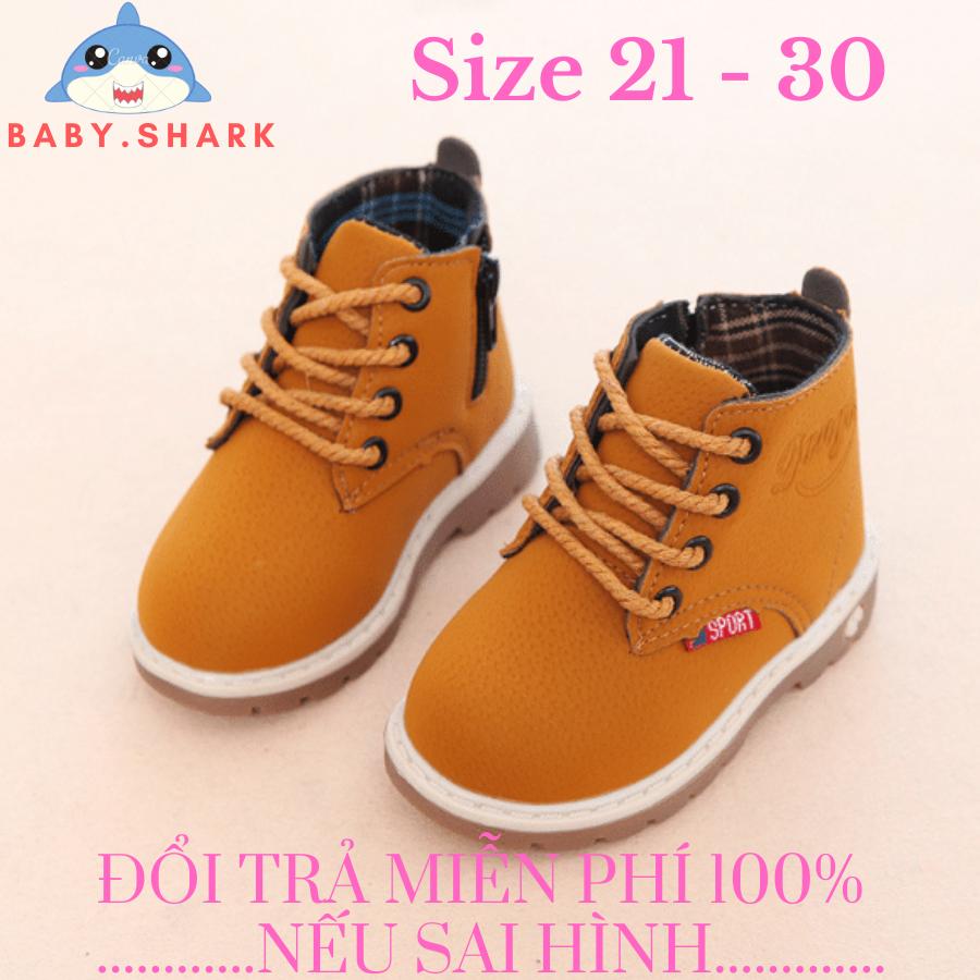 Giày cao cổ boot kéo khóa cho trẻ em bé trai bé gái hàng đẹp êm chân ( ảnh thật shop chụp )