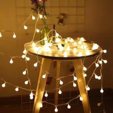 Dây đèn led trang trí xài pin dài 3 mét 20 bóng tròn cherry ball – chống thấm nước