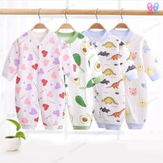 Bộ áo liền quần dài tay cao cấp cho bé sơ sinh -12 tháng Bodysuit Body cotton dài tay cho bé trai bé gái Hàng Quảng châu xuất Nhật SL05