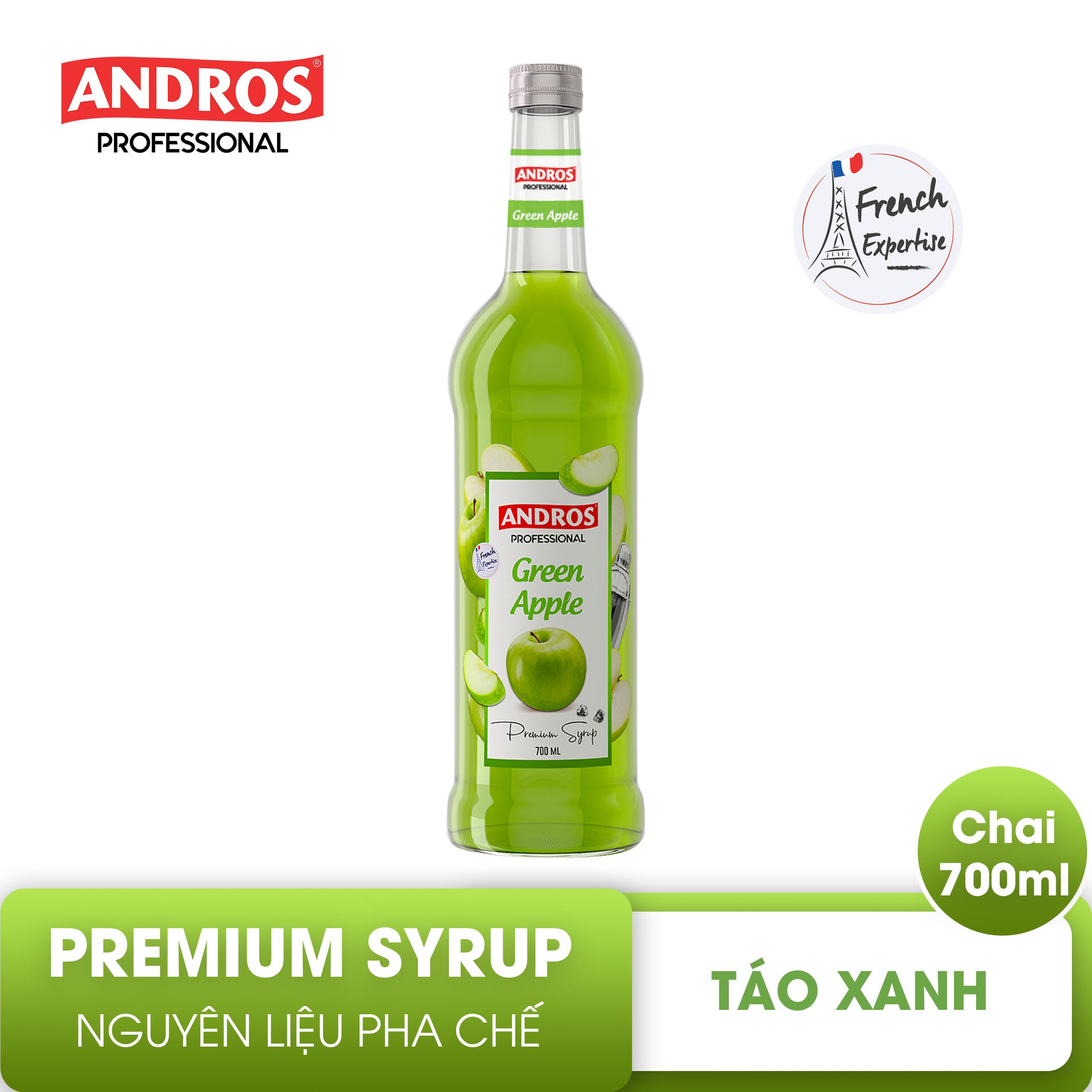 ANDROS – SYRUP Táo xanh (Green Apple) – Nguyên liệu pha chế – 700 ml