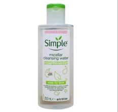 Nước tẩy trang kiềm dầu Simple Kind To Skin Micellar Cleansing Water 200ml