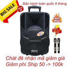 Loa kéo Temeisheng A12-65, Loa di động Bluetooth kẹo kéo BASS 30 giá rẻ, tặng 2 Micro không dây