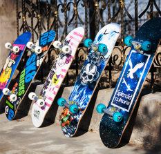 [ Khuyến Mãi Hot Mỗi Ngày] Ván Trượt Thể Thao Cỡ Lớn Vân Họa Tiết Cao Cấp,Ván Trượt Skateboard Cao Cấp, Ván Trượt Mặt Nhám Bánh Cao Su Cỡ Lớn (Đạt Chuẩn Thi Đấu) Ván Trượt Thể Thao Gỗ Phong Ép 8 Lớp-Dòng Cao Cấp Trục Kim Loai