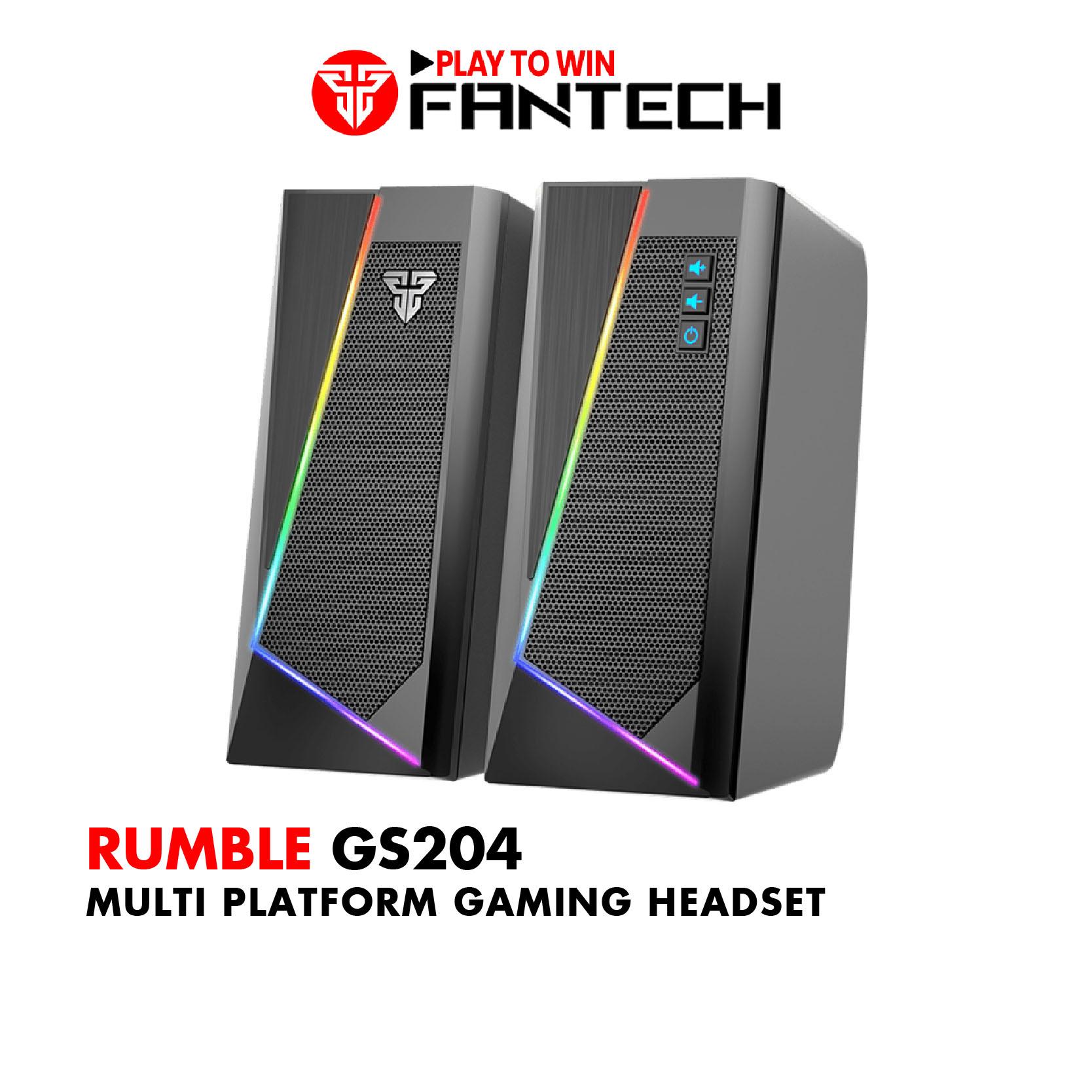 Loa Vi TÍnh Gaming Fantech GS204 RUMBLE LED RGB 7 Chế Độ Hỗ Trợ Kết Nối Bluetooth 5.0 Và AUX...