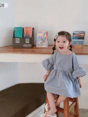 Giian – Đầm xòe thô đũi mẹ bé không kích ứng da trẻ nhỏ , Váy baby doll mẹ và bé tay chuông-thiết kế chính hãng – V1928