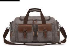 Túi xách du lịch nam cỡ lớn phong cách châu âu , vải canvas cao cấp bền và chắc có Quai đeo vai tiện dụng