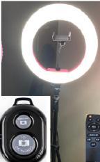 Đèn livestream đường kính 32cm kèm remote điều khiển và tặng remote chụp hình
