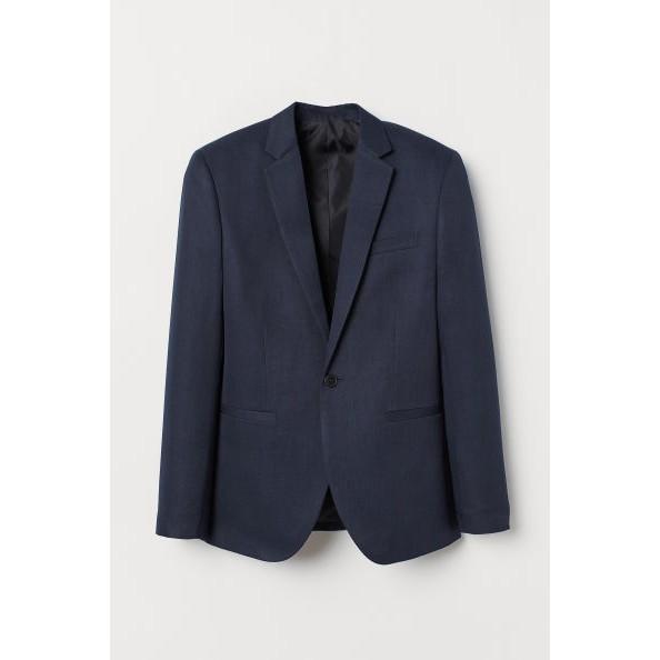 Áo vest blazer jacket nam H&M auth new tag slim fit skinny xanh đen vest chú rể cao cấp chính hãng