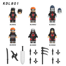 LEGO MINIFIGURES – SET 6 NHÂN VẬT PHẢN DIỆN AKATSUKI TRONG NARUTO KDL801