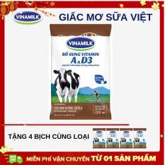 Thùng 48 bịch sữa dinh dưỡng Vinamilk socola 220ml + Tặng 4 bịch cùng loại