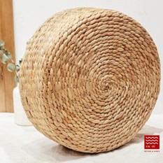 Đệm ngồi lục bình D40 x H10 cm/ Water hyacinth stool