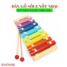 Đồ chơi âm nhạc đàn gỗ sồi 8 nốt nhạc kích thích thính giác thị giác cho trẻ – Kagonk 3919