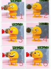 Bộ 6 Món Emoji Lò Xo Lắc Đầu Vui Nhộn – Giải Tỏa Căng Thẳng, Giảm Stress – Trang Trí Ô Tô, Bàn Làm Việc, Bàn Học,…