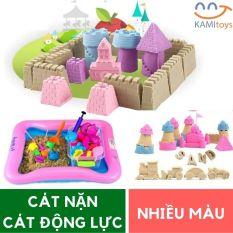 Bộ đồ chơi Cát nặn động lực vi sinh tạo hình Cung điện gồm: 1kg Cát + Bể hơi + Đủ khuôn an toàn cho trẻ em