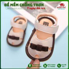Giày Tập Đi Cho Bé, Dép Tập Đi Mềm Mại Đế Chống Trơn Trượt Cho Bé Từ 0 -18 Tháng Tuổi