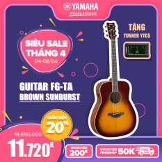 Đàn Guitar Acoustic Yamaha FG-TA – Solid Spruce, Back&side Mahogany, TransAcoustic SRT Piezzo Pickup, Elixir Strings – Bảo hành chính hãng 12 tháng