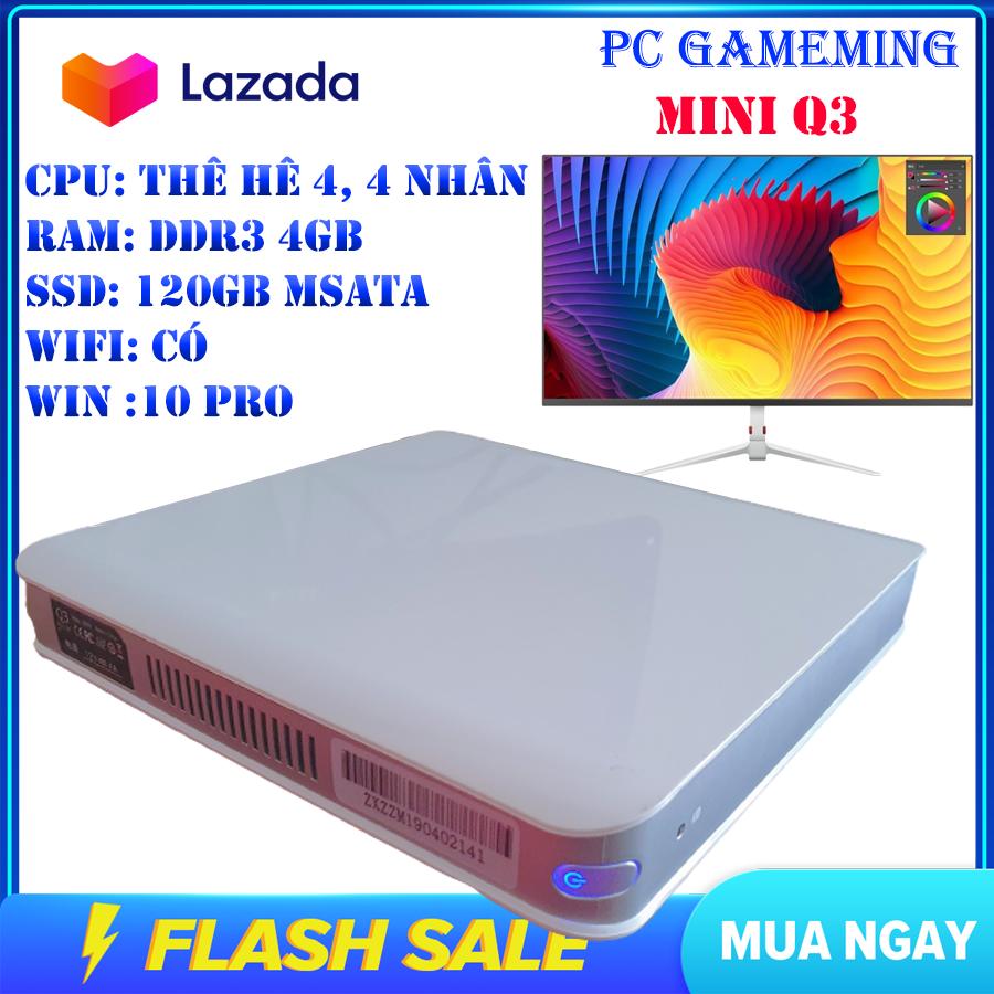 Máy tính pc gamming mini cấu hình mạnh – Máy tính để bàn nhỏ gọn tiện lợi – RAM 4GB – SSD 120G – Mạnh Mẽ THẾ HỆ 4 N2930 – Tự tin bảo hành 3 năm 1 đổi 1 trong 7 ngày