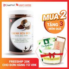 [MUA 2 TẶNG 3 QUÀ] Bột cacao sữa Dừa cao cấp Light Cacao đậm đà thơm ngon, dùng pha uống liền, pha chế tiện lợi, dạng hũ dễ bảo quản, đặc biệt không pha trộn hương liệu – Hũ 550g
