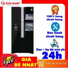 [Trả góp 0%]Tủ lạnh Hitachi 4 cánh màu đen đá tự động Inverter 540 lít R-FW690PGV7X(GBK) Inverter tiết kiệm điện Mặt gương sang trọng dễ vệ sinh Làm đá tự động Lấy nước bên ngoài Bảng điều khiển bên ngoài
