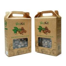 Hạt Mắc ca Viets nuts Nứt vỏ Hàng xuất khẩu Mỹ Cao cấp Combo 2 hộp – Hạt Macadamia thơm ngon, bổ dưỡng, không bị hôi dầu – Bao bì thiết kế sang trọng, hiện đại, phù hợp làm quà biếu tặng – Tặng kèm đồ tách vỏ