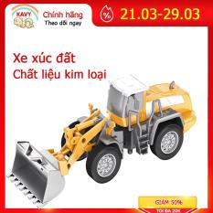Xe mô hình đồ chơi trẻ em xe xúc đất hợp kim sắt và nhựanguyên sinh an toàn cho bé, chi tiết chuyển động sắc sảo