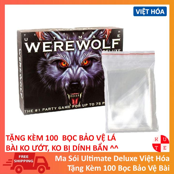 Combo Ma Sói Ultimate Deluxe Việt Hóa Tặng Kèm 100 Bọc Bảo Vệ Lá Bài