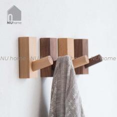 Móc gỗ treo đồ gắn tường hình chữ nhật |nuhome.vn| phong cách Hàn Quốc thiết kế đơn giản mộc mạc