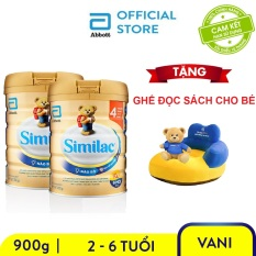 Bộ 2 lon sữa bột Similac IQ 4 900g Tặng Ghế sofa đọc sách cho bé