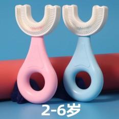 Bàn chải đánh răng chữ U đầu bàn chải chất liệu Silicon siêu mềm làm sạch toàn diện 360 độ cho bé từ 2 – 6 Tuổi