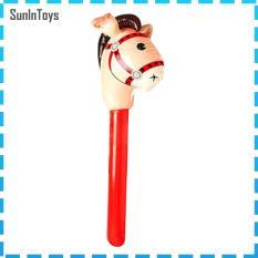 【SunInToys】Inflatable Ngựa Thanh Đầu, Đồ Chơi Động Vật Lái Xe Trò Chơi Cưỡi Ngựa Cho Trẻ Em