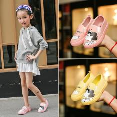 Giày Lười Vải Cho Bé Gái In Hình Đáng Yêu – Giày Thể Thao Cho Bé Êm Chân