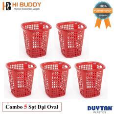 Combo 5 Sọt Đại Oval Duy Tân (41 x 41 x 45 cm) No.H207