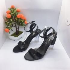 [ẢNH THẬT] Giày cao gót sandal 9 phân gót trong