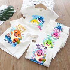 Áo thun trẻ em baby sharkk,áo thun gia đình(5-85kg)