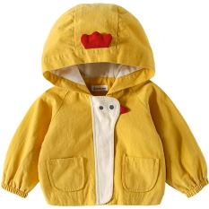 💖 quần áo trẻ em 💖 Áo khoác gió 2 lớp cho bé GÀ CON ngộ nghĩnh 7-32kg